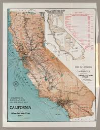 Map Of Calif Of California California State Board Of Trade 1908