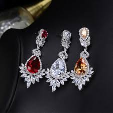 Bridal Chandelier Earrings Aliexpress Com Buy Cwwzircons Romantic Wedding Souvenir Jewelry