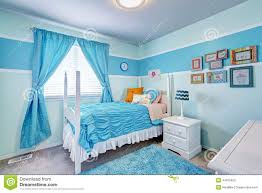 Light Blue Rooms Charming Girls Room Interior In Blue Tones Stock Photo Image