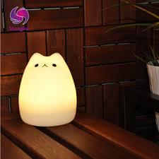 usb cat night light premium 7 colors cat led usb children animal night light silicone