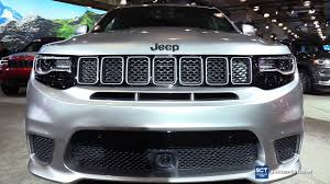 trackhawk jeep engine 2018 jeep grand cherokee trackhawk exterior interior walkaround