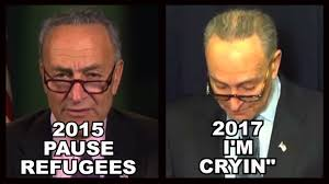 chuck schumer shooting for an oscar with immigration flip flops