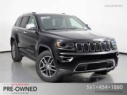 jeep grand cherokee 2017 grey certified pre owned 2017 jeep grand cherokee for sale in delray