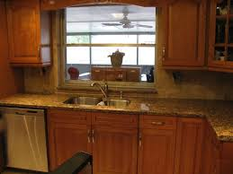 granite countertop restore oak kitchen cabinets glass backsplash
