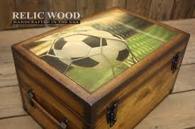 Engravable Keepsake Box Soccer Player Keepsake Box