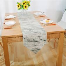 how to make table runner at home retro wood grain creative table runner party decoration fabric for