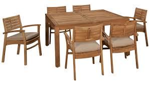 Outdoor Dining Room Sets Scancom Rinjani Scancom Rinjani 7 Piece Outdoor Dining Set