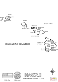 Map Hawaii Hawaii Map Coloring Page Free Printable Coloring Pages