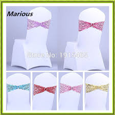 sashes for sale aliexpress buy 100pcs sequin chair sashes wedding chair