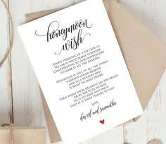 wedding wishes honeymoon tg00 honeymoon fund 3 5x5 chic wedding gift only turn