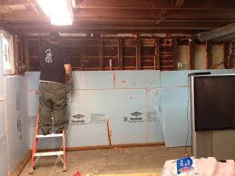 insulating basement walls with foam board home design