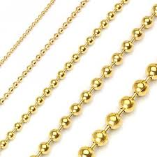 steel ball necklace images Pvd gold colored over 316l stainless steel ball chain jpg