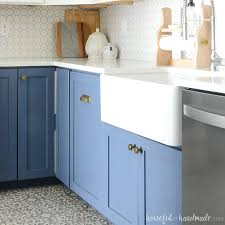 corner kitchen sink cabinet plans what to before buying a farmhouse sink houseful of