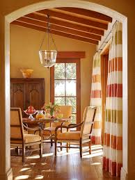 Orange And Beige Curtains Colourful Curtains Houzz