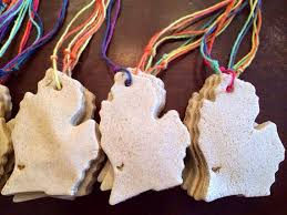 saugatuck michigan ornament made with michigan sand handmade