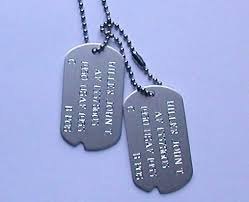 customized dog tag necklaces sandi pointe library of collections