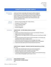 cover letter cosmetologist resume sample sample resume for
