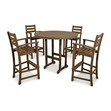 Bar Set Patio Furniture by Shop Trex Outdoor Furniture Monterey Bay 5 Piece Tree House