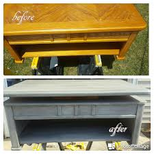 lift top coffee table refurbished with windsor gray chalk paint