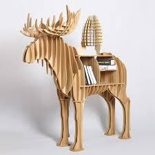 1 set 2016 new wooden desk furniture creative moose bookshelf