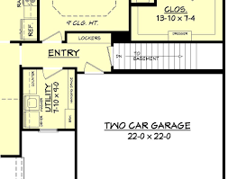 Duplex Floor Plans With 2 Car Garage by East Bailey House Plan U2013 House Plan Zone