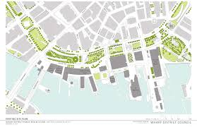 Boston Harbor Hotel Map by Wharf District Council Releases Its Own Public Realm Vision