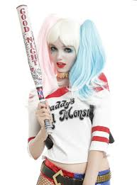 bat hoodie spirit halloween dc comics squad harley quinn cosplay baseball bat topic