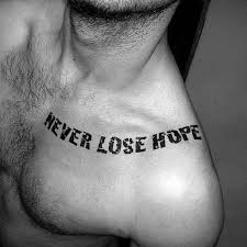 40 hope tattoos for men four letter word design ideas