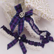 personalized horseshoe set choose your tartan personalised tartan wedding garter and