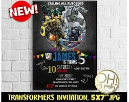 transformers rescue bots party supplies transformers invitation transformers party transformers birthday