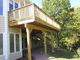 deck designs for two story homes home design