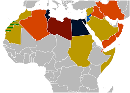 North Africa And Middle East Map file 2010 2011 middle east and north africa protests svg