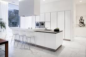 White Kitchens Pinterest Kitchen Modern White Kitchen With Marble Floor And Large Kitchen Island