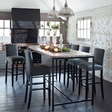 table cuisine haute table salle a manger haute table cuisine grise maisonjoffrois