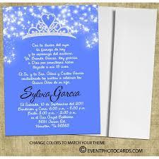 crown quinceanera invitations tiara