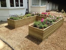 pressure treated decking raised bed vegetable garden planter