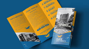 tri fold school brochure template college tri fold brochure logo design template with