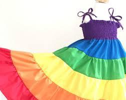 rainbow dress rainbow twirl dress rainbow sundress children