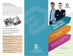 business tri fold brochure template download free psd design