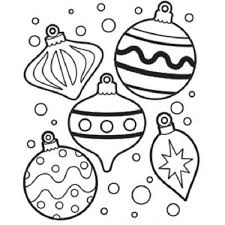 free ornaments coloring pages printables printable
