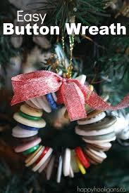 button wreath tree ornament happy hooligans