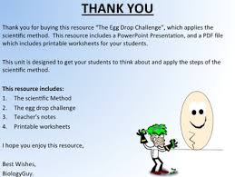scientific method the egg drop challenge by edward white tpt