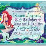 the little mermaid birthday invitations princess ariel little
