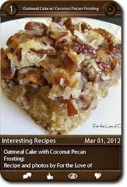 30 best oatmeal cake images on pinterest oatmeal cake coconut