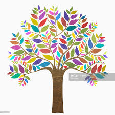 colourful tree vector getty images