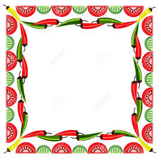 Mexican Party Flags Mexican Style Mexican Border Concept Fiesta Menu Frame Chili