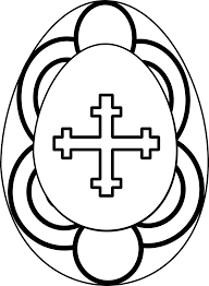 easter egg clip art black and white u2013 clipart free download