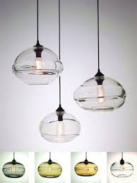 custom blown glass pendant lights hand blown bubble glass pendant light reviews houzz with regard to
