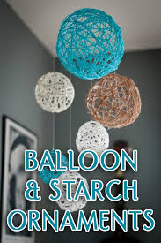 balloon starch ornament craft shows god is with us