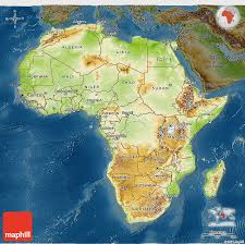 africa map physical physical 3d map of africa darken